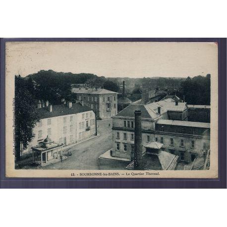 Carte postale 88 - Bourbonne-les-Bains - le quartier Thermal - Voyage - Dos divise