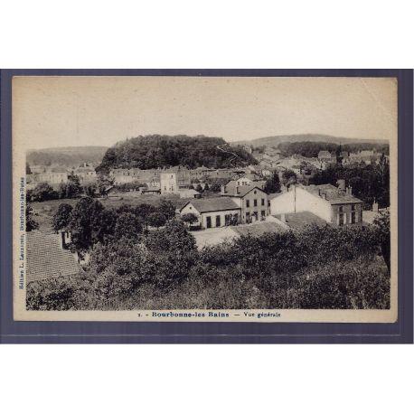 Carte postale 88 - Bourbonne-les-Bains - vue generale - Non voyage - Dos divise