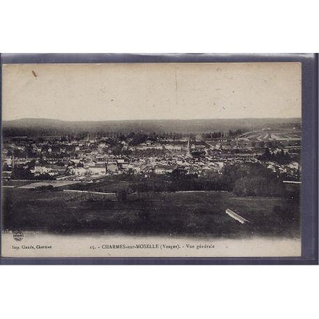 Carte postale 88 - Charmes-sur-Moselle - vue generale - Non voyage - Dos divise