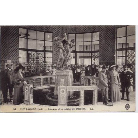 Carte postale 88 - Contrexeville - interieur de la source du pavillon -Voyage - Dos divise