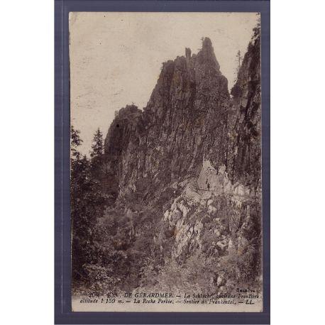 Carte postale 88 - Environs de Gerardmer - La Schlucht - ancienne frontiere altitude 1159