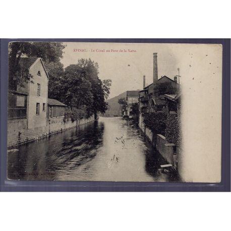 Carte postale 88 - Epinal - le Canal au Pont de la Xatte - Voyage - Dos non divise