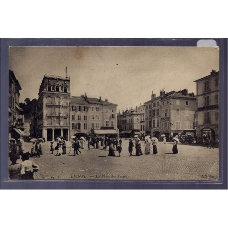 Carte postale 88 - Epinal - la Place des Vosges - Non voyage - Dos divise