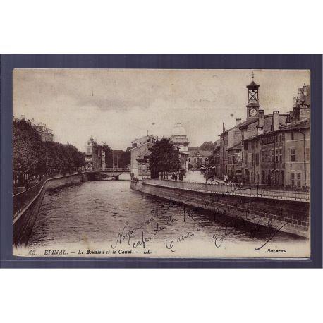 Carte postale 88 - Epinal - le Boudiou et le Canal - Voyage - Dos divise