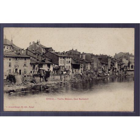 Carte postale 88 - Epinal - vieilles maisons - quai Rualmenil - Non voyage - Dos non divi