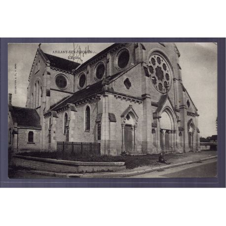 Carte postale 89 - Aillant-sur-Tholon - l' eglise - Non voyage - Dos divise