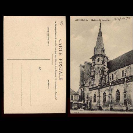 Carte postale 89 - Auxerre - Eglise St Eusebe