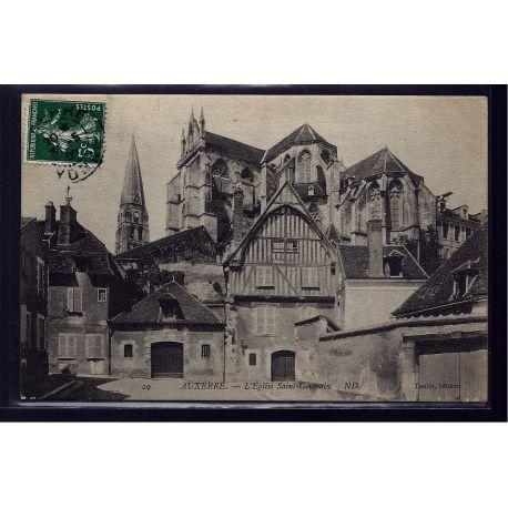 Carte postale 89 - Auxerre - L' eglise Saint-Germain - Voyage - Dos divise