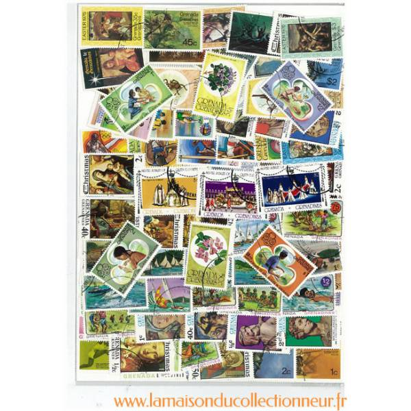 Collection-de-timbres-Grenades-amp-Grenadines-obliteres miniature 2
