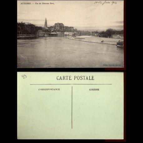 Carte postale 89 - Auxerre - Vue du nouveau Port