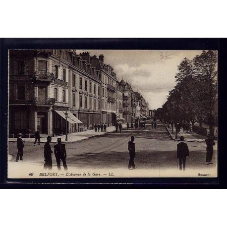 90 - Belfort - l' Avenue de la Gare - Non voyage - Dos divise