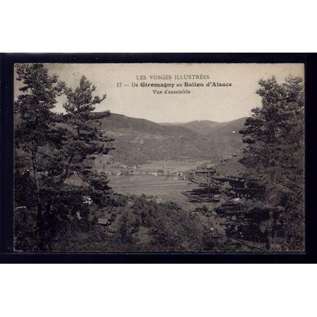 90 - De Giromagny au Ballon d' Alsace - vue d'ensemble - Voyage - Dos divis