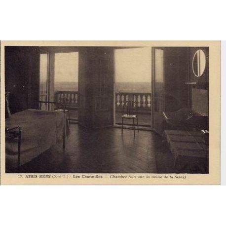Carte postale 91 - Ahis-Mons - Les charmilles - Chambre - vue sur la vallee de la seine -Non