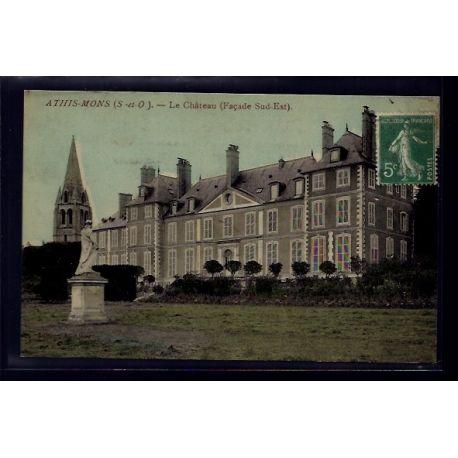 Carte postale 91 - Athis-Mons - le chateau - facade Sud-Est - Voyage - Dos divise