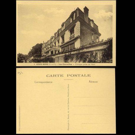 Carte postale 91 - Athis-Mons - Les Charmilles - Clinique prise du parc