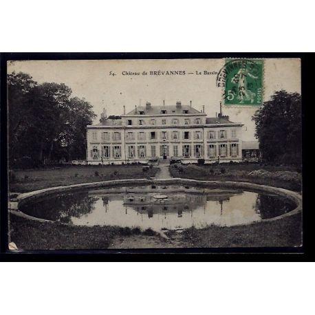 Carte postale 91 - Brevannes - le chateau - le Bassin - Voyage - Dos divise