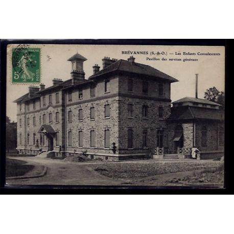 Carte postale 91 - Brevannes - les enfants convalescents - pavillon des services generaux