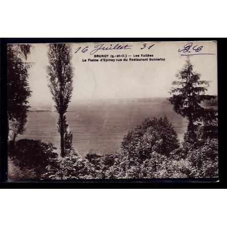 Carte postale 91 - Brunoy - les vallees - la plaine d' Epinay vue du restaurant Bonnefoy