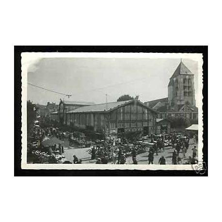Carte postale 91 - Corbeil - Les halles - CPSM