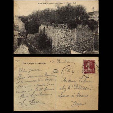 Carte postale 91 - Dourdan - Le chateau facade sud