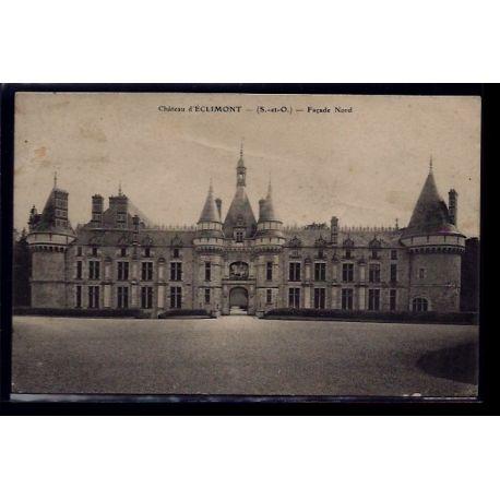 Carte postale 91 - Eclimont - le chateau facade Nord - Voyage - Dos divise