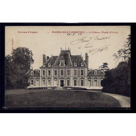 Carte postale 91 - Environs d' Arpajon - Marolles-en-Hurefoix - le chateau - facade d' en