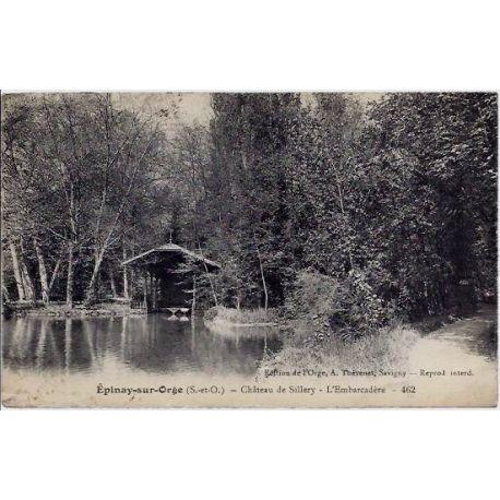 Carte postale 91 - Epinay-sur-orge - Chateau de Sillery - L'embarcadere - Voyage - Dos divis