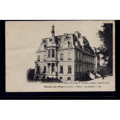 Carte postale 91 - Epinay-sur-Orge - Sillery - le chateau - Non voyage - Dos divise