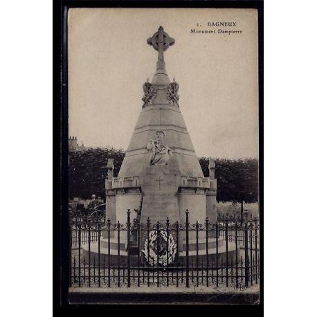 Carte postale 92 - Bagneux - Monument Dampierre - Voyage - Dos divise