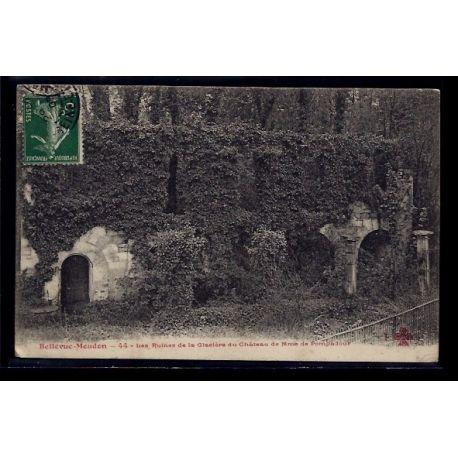 Carte postale 92 - Bellevue Meudon - les ruines de la Glacere du chateau de Mme de Pompad
