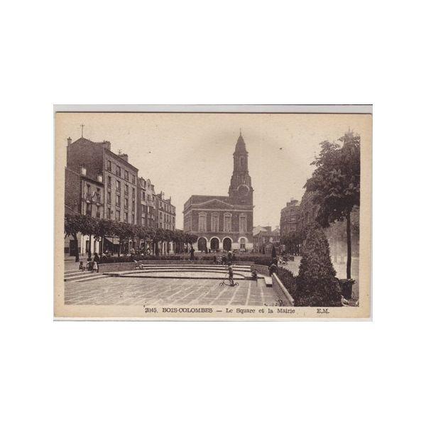 Carte postale 92  Bois Colombes  Le square et la mairie ~ Carte Bois Colombes