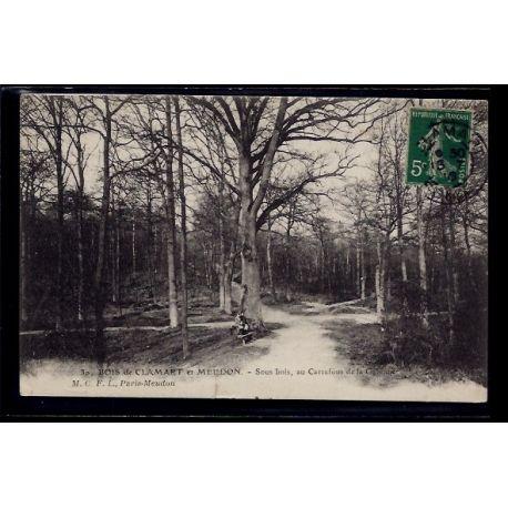 Carte postale 92 - Bois de Clamart et Meudon - Sous-bois au carrefour de la Garenne - Voy
