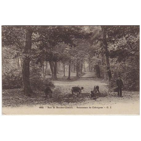 Carte postale 92 - bois de Meudon Clamart - Ramasseurs...