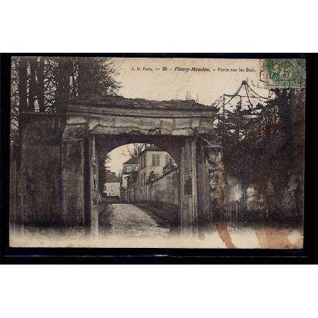Carte postale 92 - Fleury-Meudon - Porte sur les bois - Voyage - Dos divise