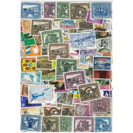 Guatemala - 25 timbres différents