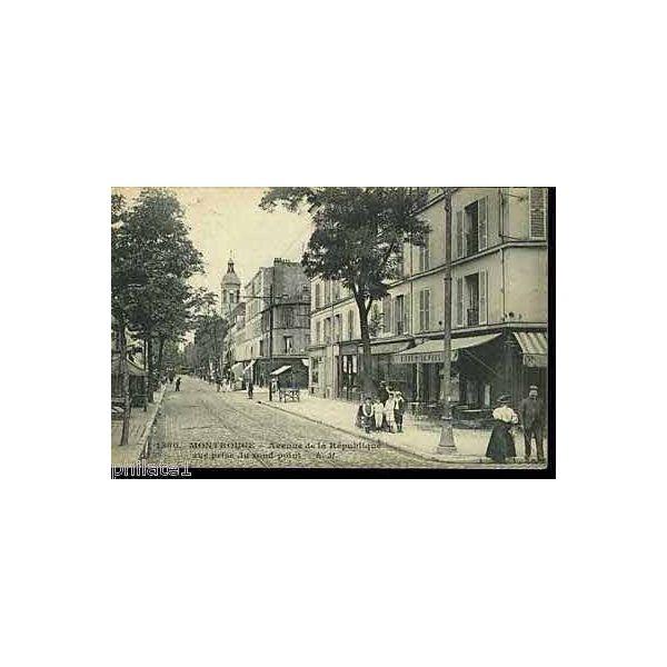 carte postale 92 montrouge avenue de la republique. Black Bedroom Furniture Sets. Home Design Ideas