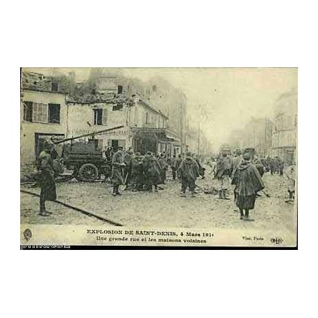 93 - Explosion de St-Denis - 1916 - Camion de pompiers