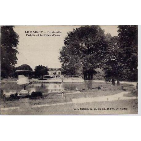 93 - Le raincy - Le jardin public et la piece d'eau - Voyage - Dos divise