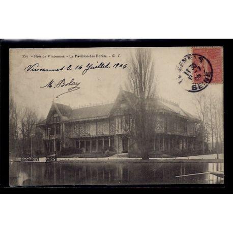 Carte postale 94 - Bois de Vincennes - le pavillon des forets - Voyage - Dos divise
