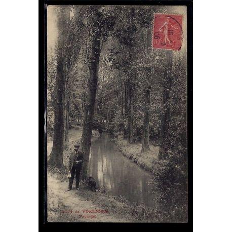 Carte postale 94 - Bois de Vincennes - Paysage - Voyage - Dos divise