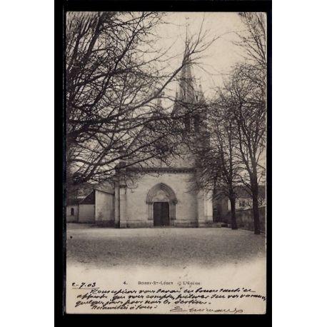 Carte postale 94 - Boissy-St-Leger - L' eglise - Voyage - Dos non divise