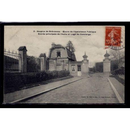 Carte postale 94 - Brevannes - Hospice - Oeuvre de l' assistance Publique - Entree Princi