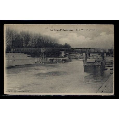 Carte postale 94 - Charenton - La Marne - Voyage - Dos divise