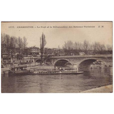 Carte postale 94 - Charenton - Le pont et le debarcadere