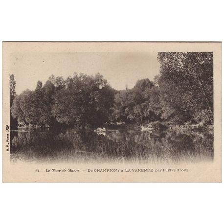Carte postale 94 - de Champigny a La Varenne