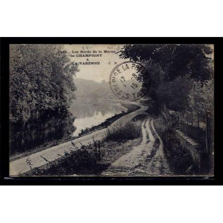 Carte postale 94 - De Champigny a La Varenne - les bords de la Marne - Voyage - Dos divis