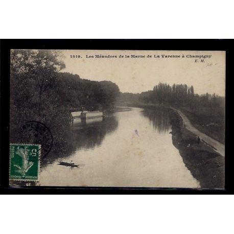 Carte postale 94 - De la Varenne a Champigny - les Meandres de la Marne - Voyage - Dos di