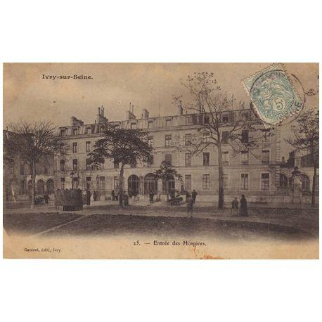 Carte postale 94 - Ivry sur Seine - Entree des Hospices