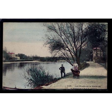 Carte postale 94 - Joinville-le-Pont - les bords de la Marne - Voyage - Dos divise