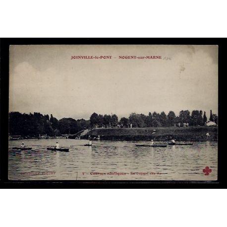 Carte postale 94 - Joinville-le-Pont - Nogent-sur-Marne - Courses nautiques - le depart d